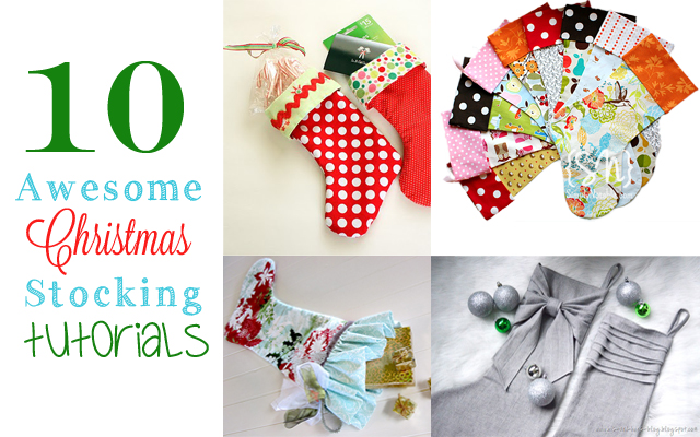 10 Awesome Christmas Stocking Tutorials via Cherishedbliss.com #christmas