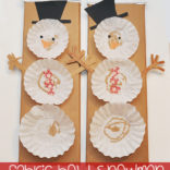 Coffee Filter Snowman Tutorial