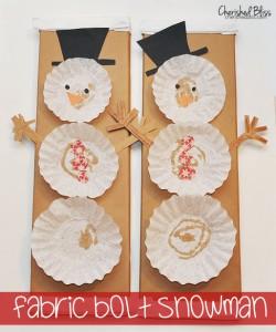 Fabric Bolt Snowman