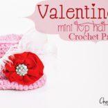 Valentine Mini Top Hat Crochet Pattern