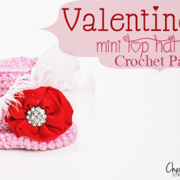 Valentines Mini Top Hat Crochet Pattern