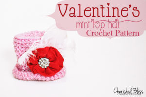 Valentines Mini Top Hat Crochet Pattern