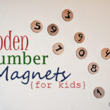 Wooden Number Magnets – A learning tool