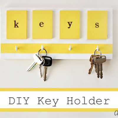 DIY Key Holder {yellow love}