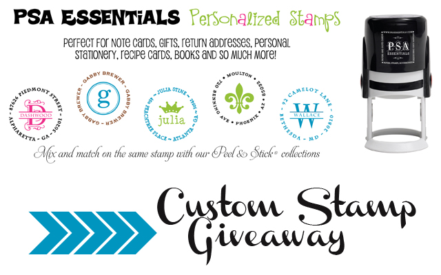 PSA Essentials Custom Stamp Giveaway via cherishedbliss.com #win #giveaway