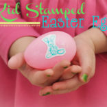 Kid Stamped Easter Egg Craft
