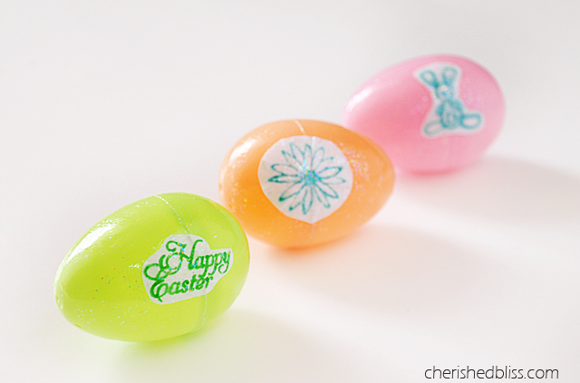 Kid Stamped Easter Egg Craft via Cherishedbliss.com