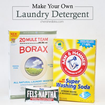 Easy Homemade Laundry Detergent