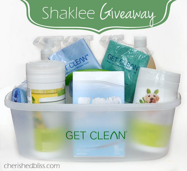 Shaklee Giveaway - Get Clean kit for all your spring cleaning needs!