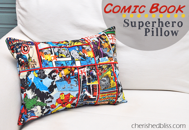 comic book superhero pillow