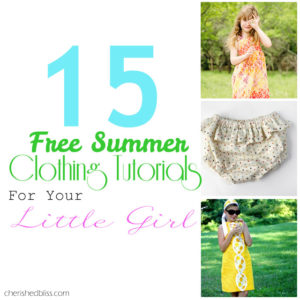 15 Free Summer Girl Clothing Tutorials