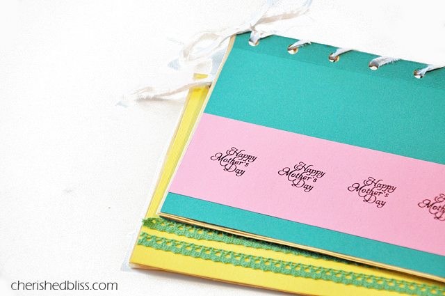 Mother's Day Gift Idea - A kid crafted book of their sweet drawings via cherishedbliss.com