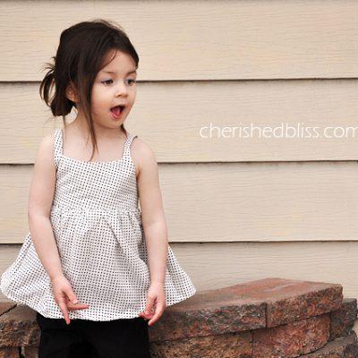 Peek a Boo Bow Toddler Shirt Tutorial