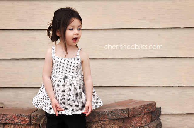 Ruffled Peek a Boo Toddler Shirt Tutorial via Cherishedbliss.com