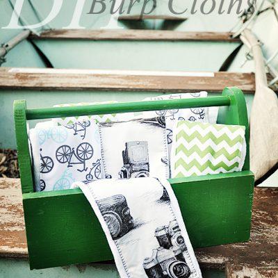 Burp Cloth Tutorial – Travel Themed