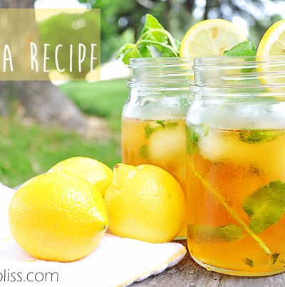 Bigelow Iced Tea Recipe with Lemonade Ice Cubes