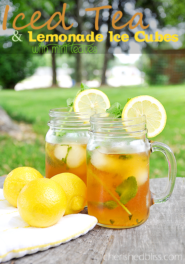 An easy Iced Tea Recipe with Lemonade Ice Cubes & Mint Leaves! Absolutely delicious! #AmericasTea #shop