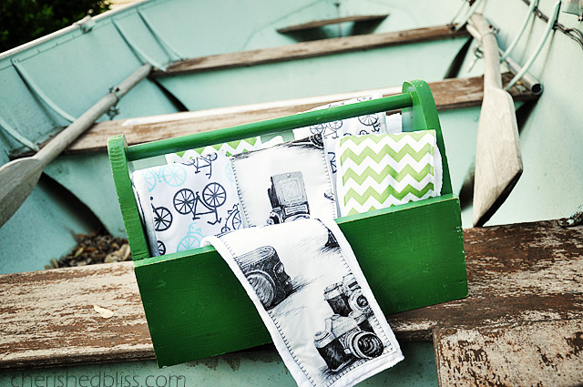 DIY Burp Cloth Tutorial for a vintage travel themed nursery via cherishedbliss.com