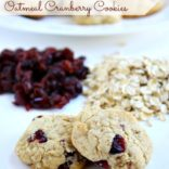 Gluten Free Oatmeal Cranberry Cookies – Design, Dining, & Diapers