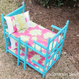 American Doll Bunk Bed Tutorial by Uncommon Designs Online