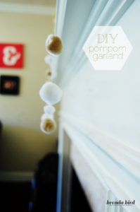 DIY Pom Pom Garland by From Me, With Love