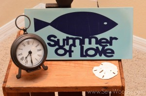 Summer of Love Sign by Sew Woodsy