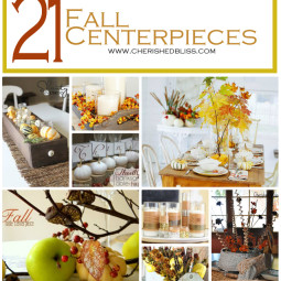 21 Fall Centerpiece Ideas to get you inspired for the season! via cherishedbliss.com
