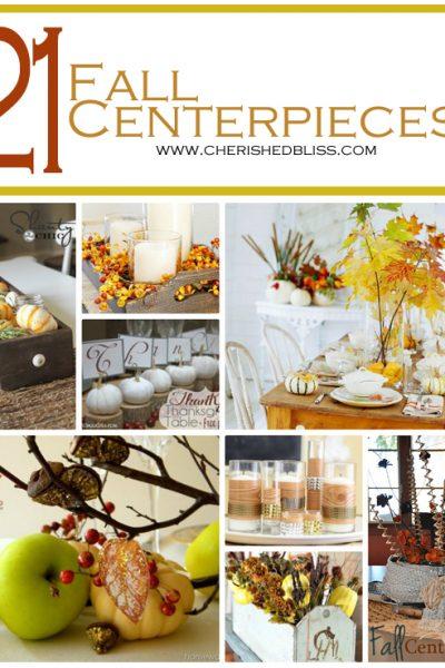 21 Fall Centerpiece Ideas to get you inspired for the season! via cherishedbliss.com