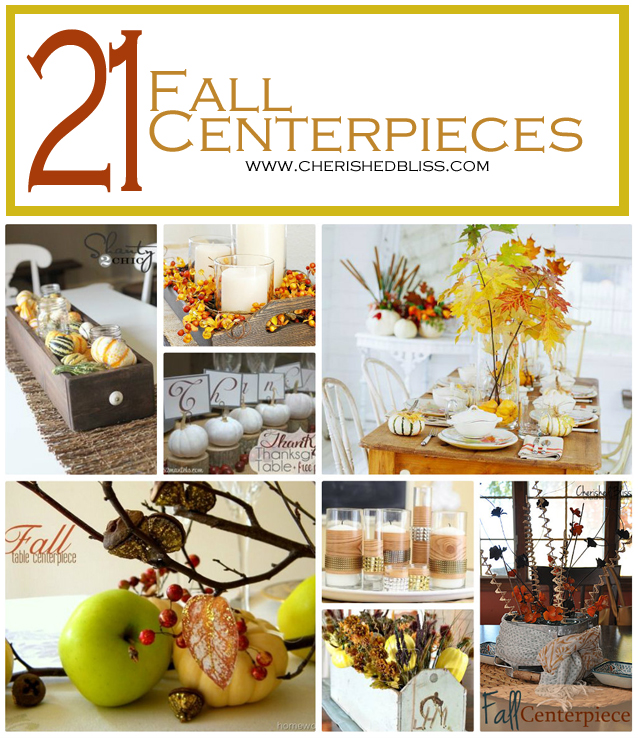 21 Fall Centerpiece Ideas to get you inspired this season! via cherishedbliss.com