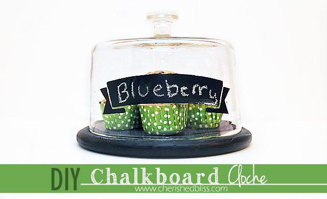 Create your very own Chalkboard Painted Cloche! Tutorial via cherishedbliss.com #FolkArtMulti #HandmadeCharlotte #ad