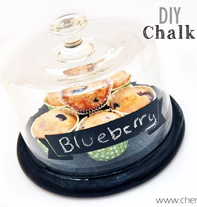 Create your very own Chalkboard Painted Cloche! Tutorial via cherishedbliss.com #FolkArtMulti #HandmadeCharlotte #ad