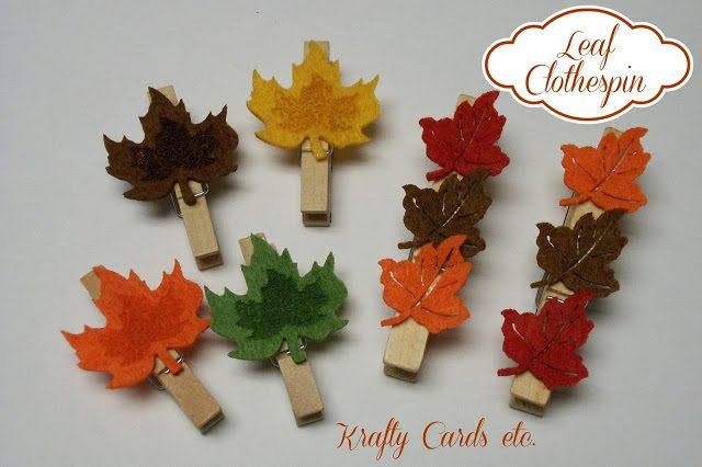 Leaf Clothespin