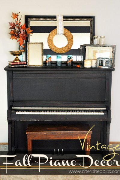 Vintage Inspired Fall Decor via cherishedbliss.com