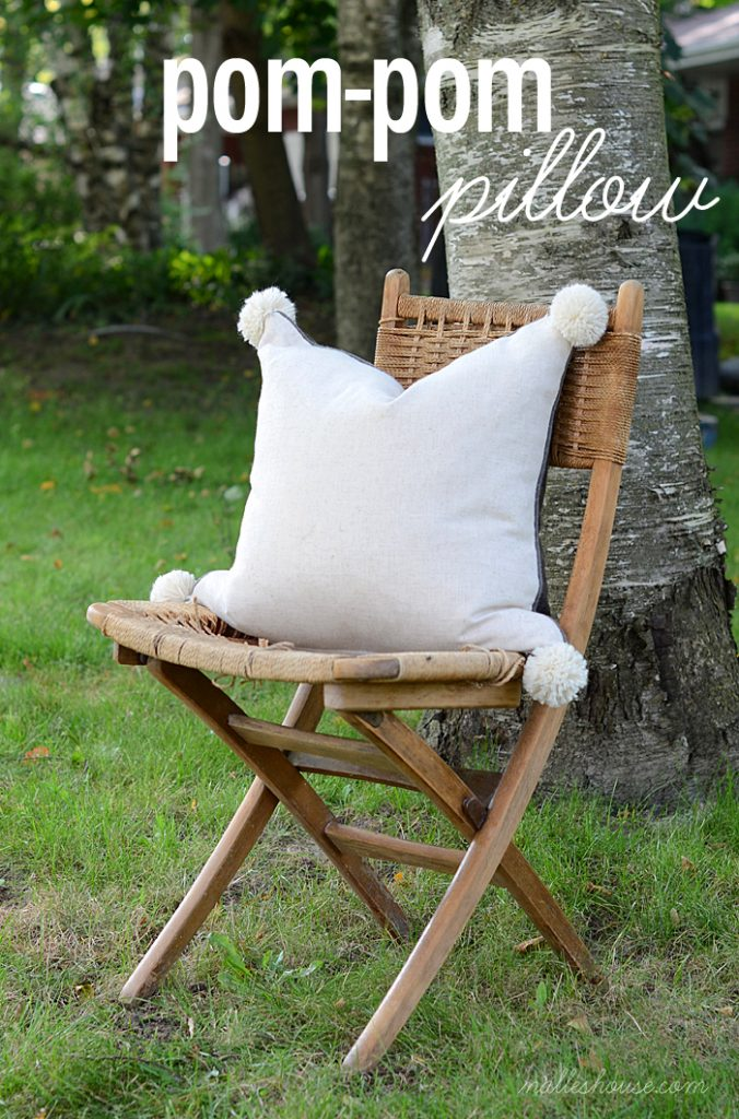 diy pom-pom pillow 9