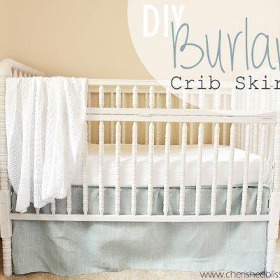 The Easiest DIY Crib Skirt Tutorial Ever