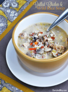 Grilled Chicken and Wild Rice SoupDelicious Grilled Chicken and Wild Rice Soup via cherishedbliss.com