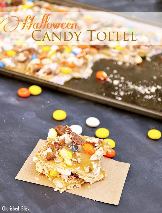 Halloween Toffee Recipe for your Halloween celebrations via cherishedbliss.com #SpookyCelebration #shop