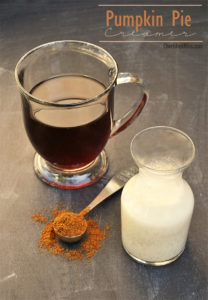 A delicious Pumpkin Pie creamer to help you enjoy your morning coffee a little more this fall! via Cherishedbliss.com