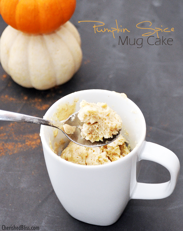 A delicious Pumpkin Spice Mug Cake #loveyourcup #shop #cbias