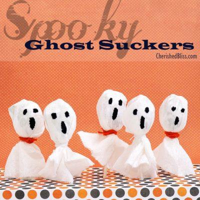 Spooky Ghost Suckers {Halloween Treat}
