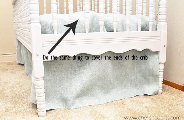 The Easiest Diy Crib Skirt Tutorial Ever Cherished Bliss