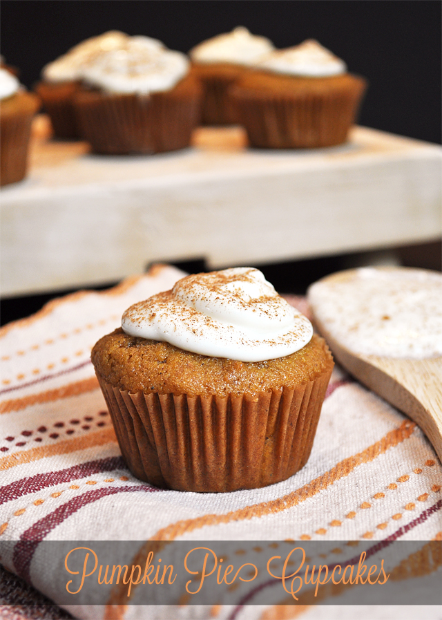 Pumpkin Pie Cupcakes. YUM!