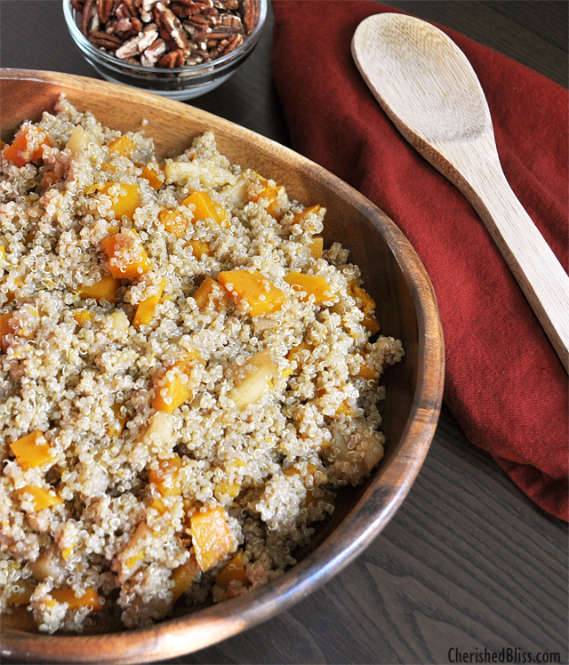 Another great way to use Quinoa! Caramelized Apple and Butternut Squash Quinoa Salad