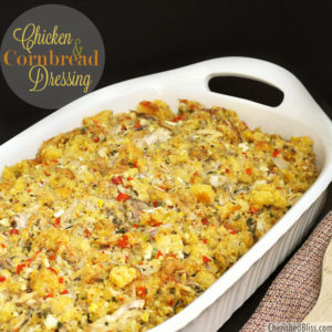 Chicken and cornbread dressing