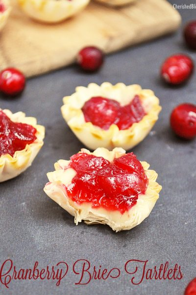 Cranberry Brie Tartlets Recipe. These would be great for Thanksgiving!