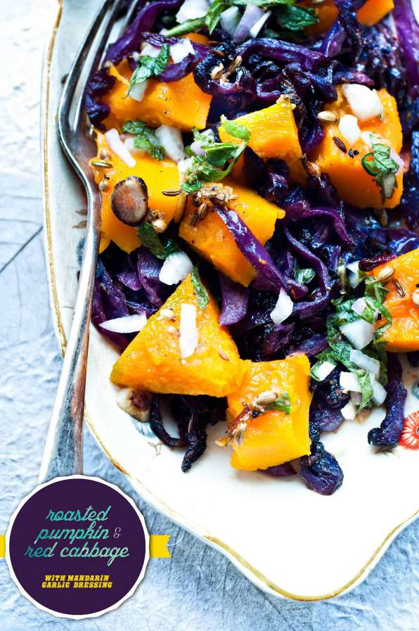 Rosated Pumpkin and Red Cabbage