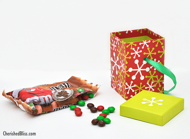 Make a fun M&M White Elephant Gift for this year with a pretend box of candy! #HolidayMM #Shop