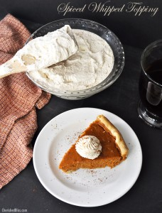 A delicious Spiced Whipped Topping recipe!