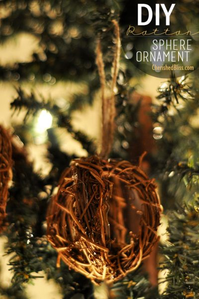 DIY Rattan Sphere Ornament Tutorial