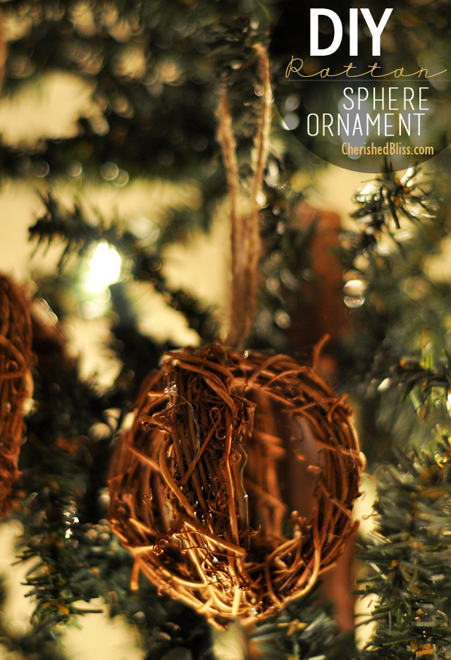 DIY Rattan Sphere Ornament